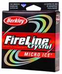 BERKLEY FIRELINE MICRO ICE BRAID 6# 50YD CRYSTAL FLIPS6-CY