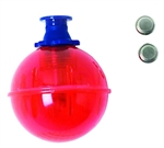 "EAGLE CLAW ROUND LIGHTED BOBBER W/BATT. 2"" RED FLITERD-2"