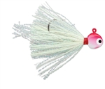 VMC HOT SKIRT GLOW JIG 1/16 OZ RED WHITE HSG116-RDWHT