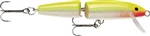 "RAPALA JOINTED MINNOW 2-3/4"" 1/8 OZ SILVER FLUORESCENT CHARTREUSE J07-SFC"