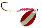 LINDY WALLEYE SPINNER RED/WHITE LR774