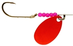 LINDY WALLEYE SPINNER FLO RED LR775