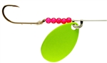 LINDY WALLEYE SPINNER CHARTREUSE LR777