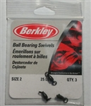 BERKLEY BALL BEARING SWIVEL 25# 3/PK P2BB