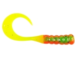 "BERKLEY POWERBAIT RIBBONTAIL GRUBS 3"" 15/PK FIRETIGER PBHRG3-FT"