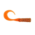 "BERKLEY POWERBAIT RIBBONTAIL GRUBS 3"" 15/PK PUMPKINSEED & FLUOR. ORANGE PBHRG3-PFO"