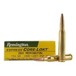 Remington Rifle Ammuntion R280R1 280 Remington Core-Lokt Pointed Soft Point 150 GR 2890 fps 20 Rd/bx