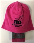 REALTREE WOMEN'S HAT/SOCK COMBO, PINK, MEDIUM - T9724M
