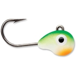 VMC TUNGSTEN TUBBY JIG 1/32 OZ GREEN ORANGE GLOW TTJ132GOGL