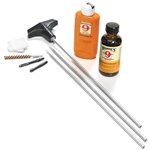 HOPPE'S RIFLE CLEANING KIT WITH ALUMINUM ROD FOR .22 CAL-.257  U22B