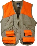 World Famous Upland Hunting Game Vest Tan/Orange Large