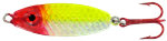 WAHOO BB RATTLER SPOON 1/4 OZ CLOWN-GLO WHITE BACK WAH-BRS14-CLH