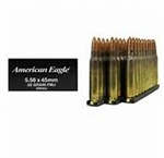 Federal XM Rifle Ammunition XM193 5.56mm NATO Full Metal Jacket Boat-Tail 55 GR 3165 fps 20 Rd/bx