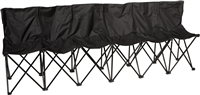 Trademark Innovations Sideline Collapsible Bench 6 Person Seater with Back