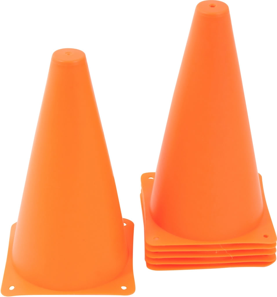 9 Quot Plastic Cone 12 Pack Orange Sports Training Gear By