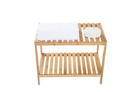 "24"" Long Bamboo Spa Bench Storage Shelf by Trademark Innovations"