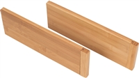 Bamboo Expandable Kitchen, Utility Drawer Dividers, Set of 2 by Trademark Innovations