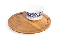 "10"" Diameter Bamboo Lazy Susan Turntable with Rim by Trademark Innovations"