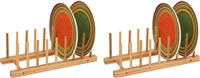 Plate Holder For 8 Plates Made From Natural Bamboo Set of 2 by Trademark Innovations