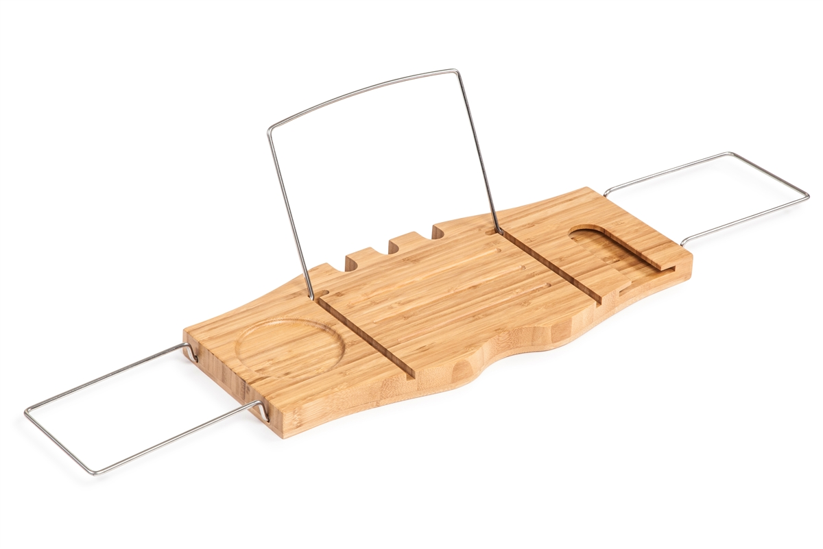 Bamboo Bathtub Tray and Caddy by Trademark Innovations