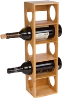 Bamboo Stackable Tower 5 Bottle Wine Holder by Trademark Innovations