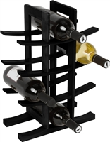 Wine Rack Holds 12 Bottles Made From Natural Bamboo By Trademark Innovations (Black)