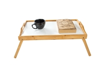 Bamboo Folding Bed Tray, Laptop Tray With Handles by Trademark Innovations