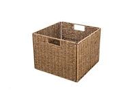 Foldable Storage Basket with Iron Wire Frame by Trademark Innovations