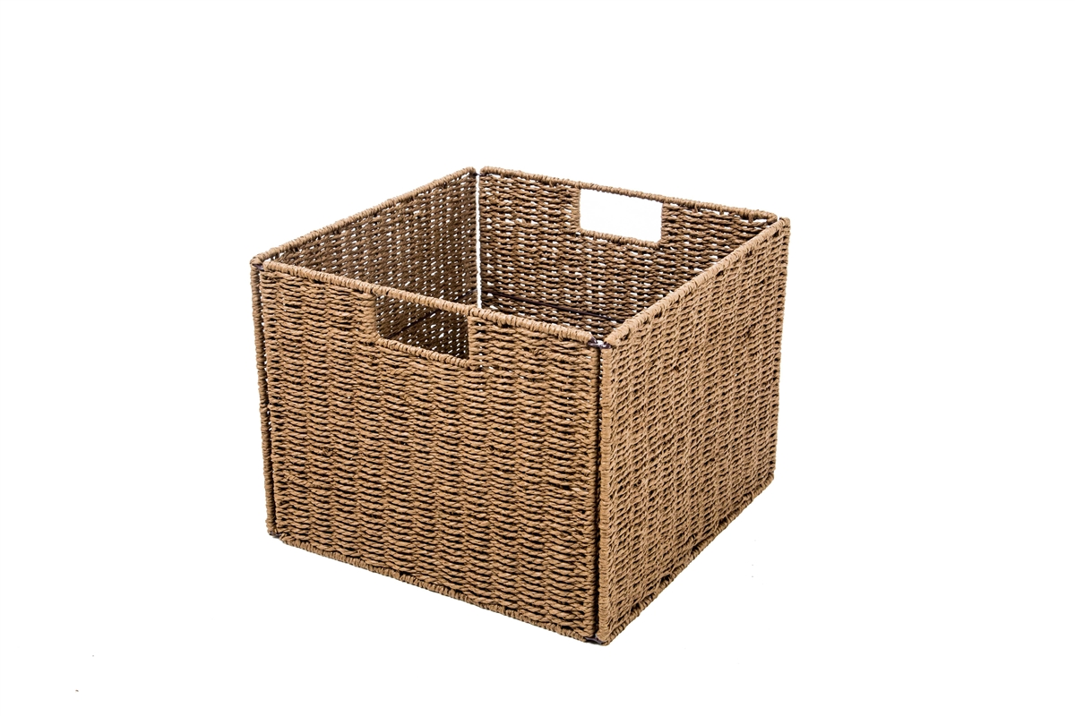 sc 1 st  Trademark Innovations & Foldable Storage Basket with Iron Wire Frame by Trademark Innovations