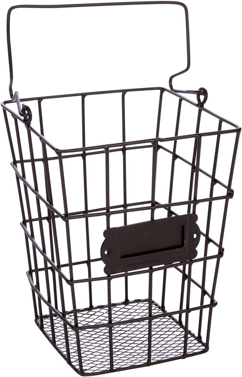 Metal Wire And Mesh Hanging Utensil And Storage Basket By Trademark Innovations