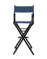 Director's Chair Counter Height Black Wood By Trademark Innovations (Blue)