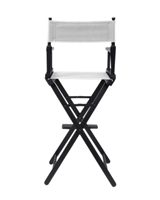 Directoru0027s Chair   Counter Height   Black Wood   By Trademark Innovations ( White)