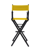 Director's Chair Counter Height Black Wood By Trademark Innovations (Yellow)