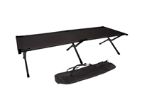 Trademark Innovations Black Aluminum Camping Bed Portable Cot