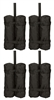 "Canopy Tent Weight Bags Set of 4 20"" Tall with Zippered Tops By Trademark Innovations"