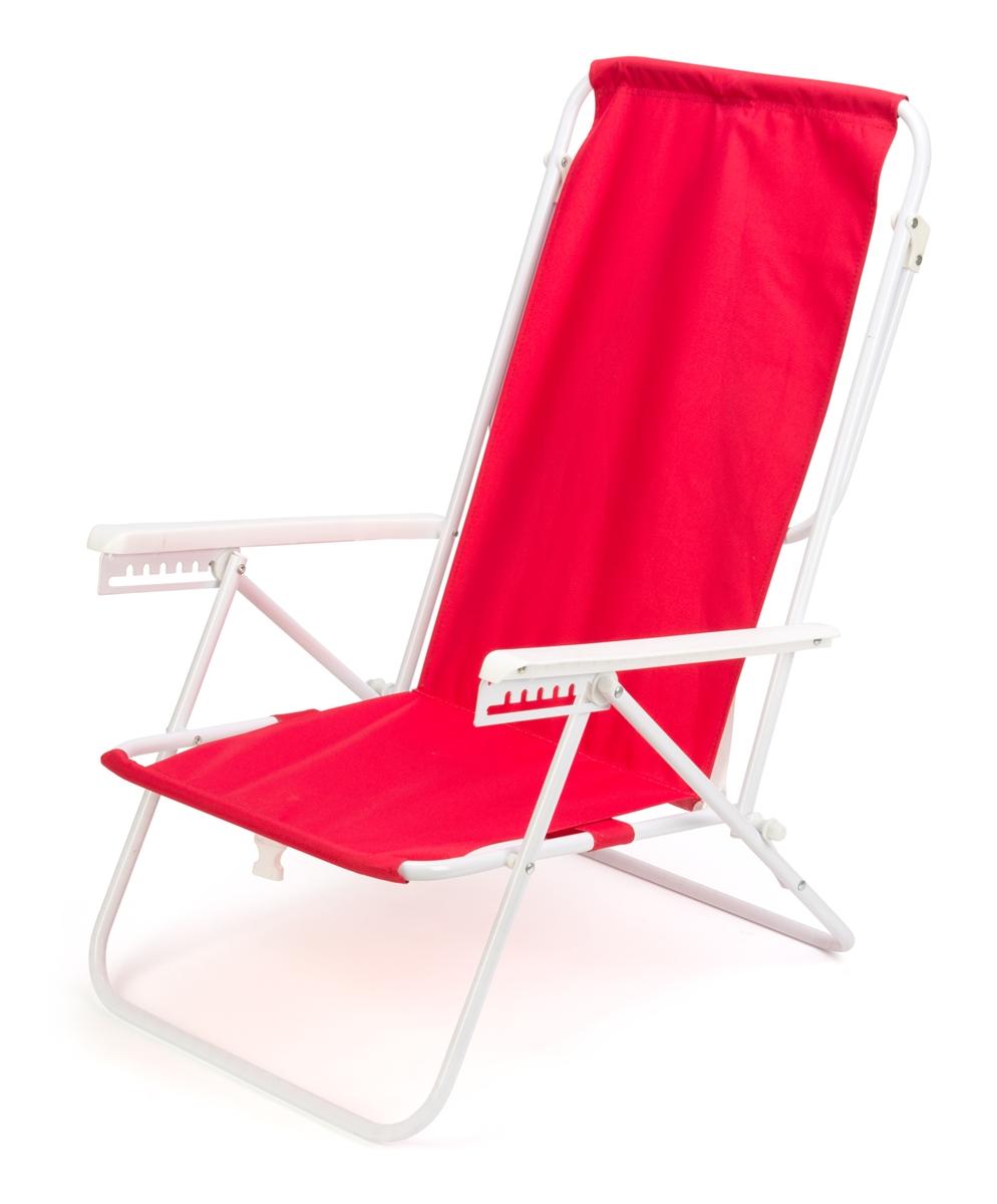 Pleasant 7 Position High Back Steel Tube Beach Chair By Trademark Innovations Red Frankydiablos Diy Chair Ideas Frankydiabloscom