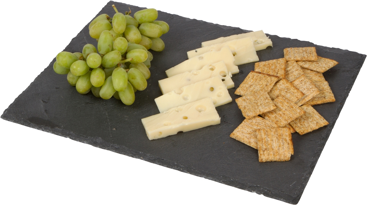 slate cheese board and serving tray with chalk by trademark innovations