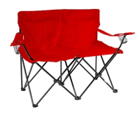 "Loveseat Style Double Camp Chair with Steel Frame by Trademark Innovations (Red, 31.5""H)"