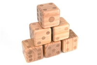 "Giant Wood Yard Dice Each Die 3.5""  with Carry Bag by Trademark Innovations"