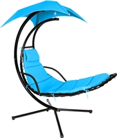Dream Chair Floating Swing Chaise Lounge Chair By Trademark Innovations (Teal)