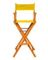 Director's Chair Bar Height Wood Fabric Color Choices By Trademark Innovations (Honey Wood with Yellow)