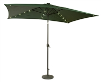 10' x 6.5' Rectangular Solar Powered LED Lighted Patio Umbrella by Trademark Innovations (Green)