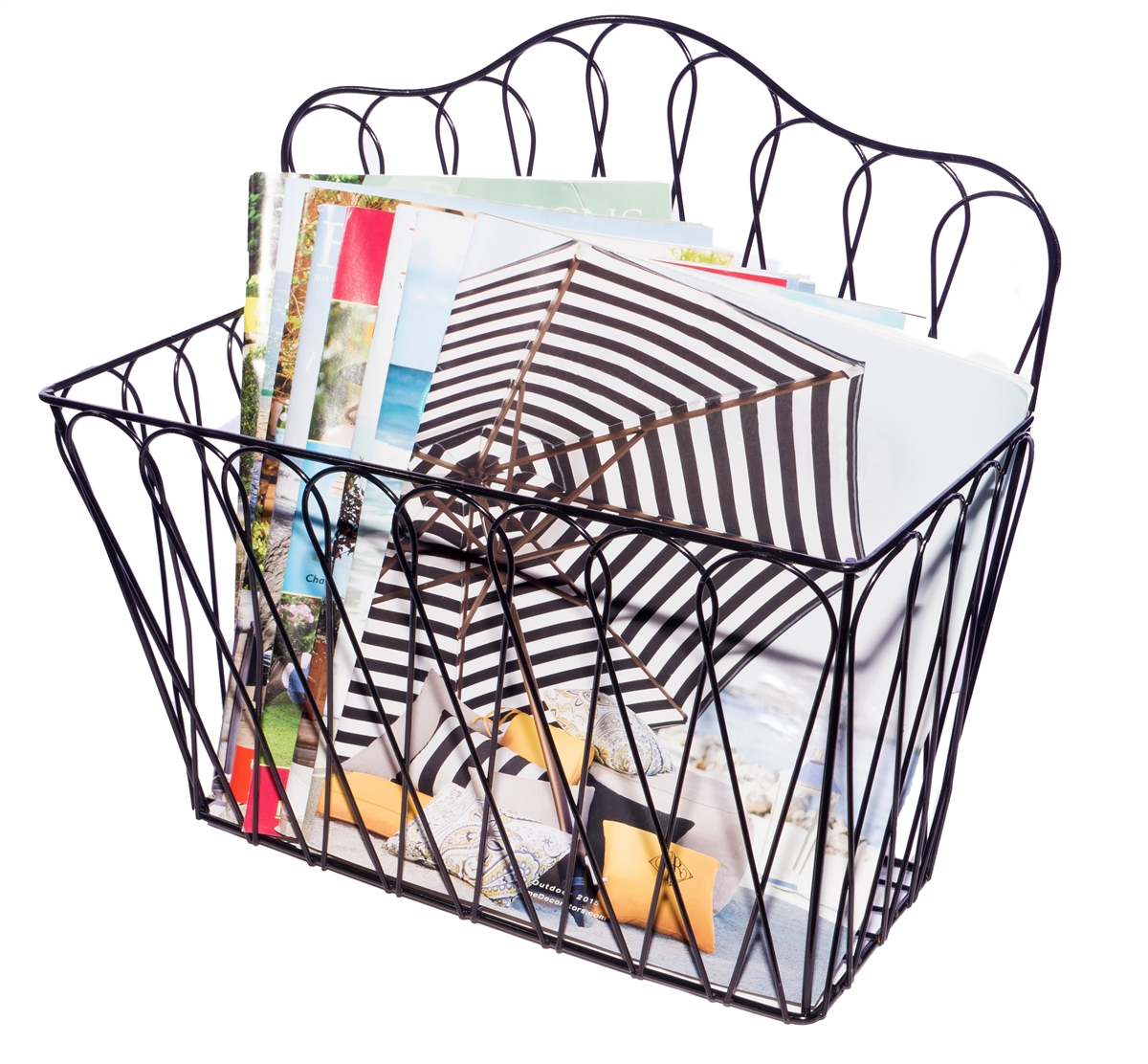 Decorative Wall Mounted Metal Magazine And Storage Rack By Trademark Innovations
