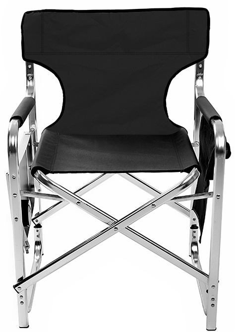 Swell Aluminum And Canvas Folding Directors Chair With Side Table By Trademark Innovations Black 31 5H Squirreltailoven Fun Painted Chair Ideas Images Squirreltailovenorg