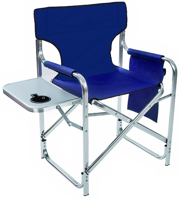 Aluminum Canvas Folding Director S Chair With Side Table By Trademark Innovations Green 31 5