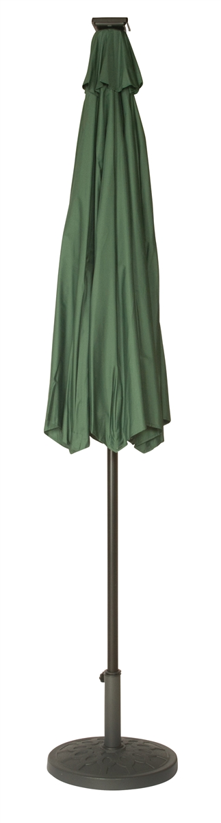 9u0027 Deluxe Solar Powered LED Lighted Patio Umbrella By Trademark Innovations  (Green)