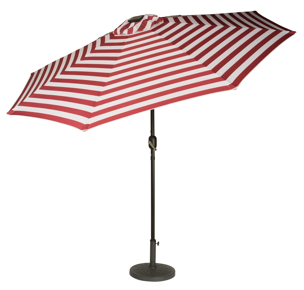 9\' Deluxe Solar Powered LED Lighted Patio Umbrella by Trademark ...