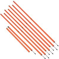 Sports Coaching Agility 6' Training Poles (Set of 8)