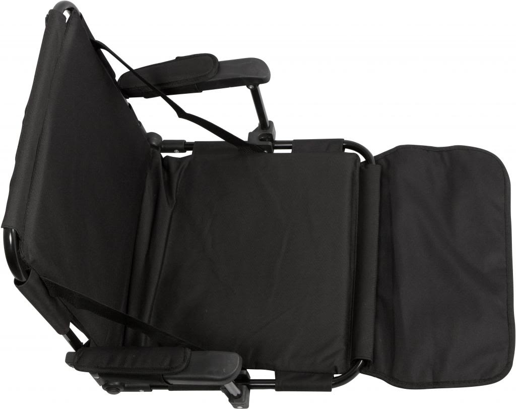 Black Stadium Chair With Stadium Hooks Arm Pads Amp Leg