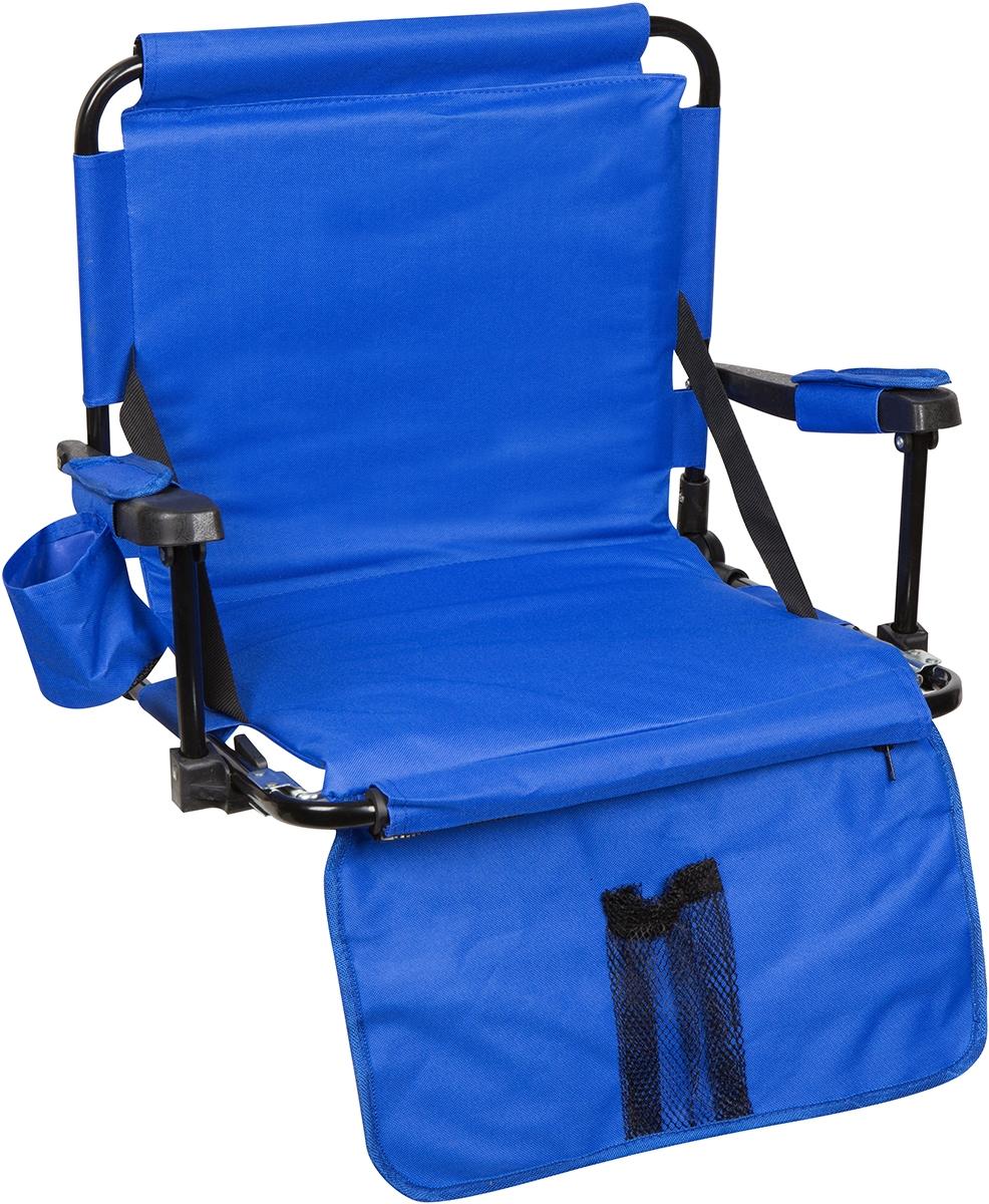 Royal Blue Stadium Chair With Stadium Hooks Arm Pads